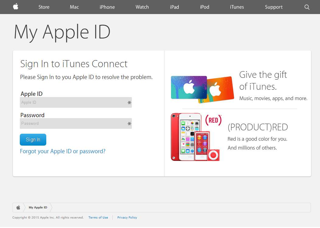 iTunes Phishing | Notes In The Margin